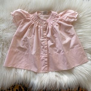 Vintage newborn 3-6 months baby pink smocked dress